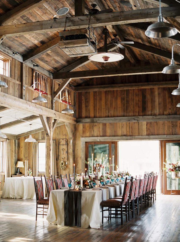 Romantic Rustic Winter Barn Wedding Reception // Photography ~ Rebecca Hollis Photography