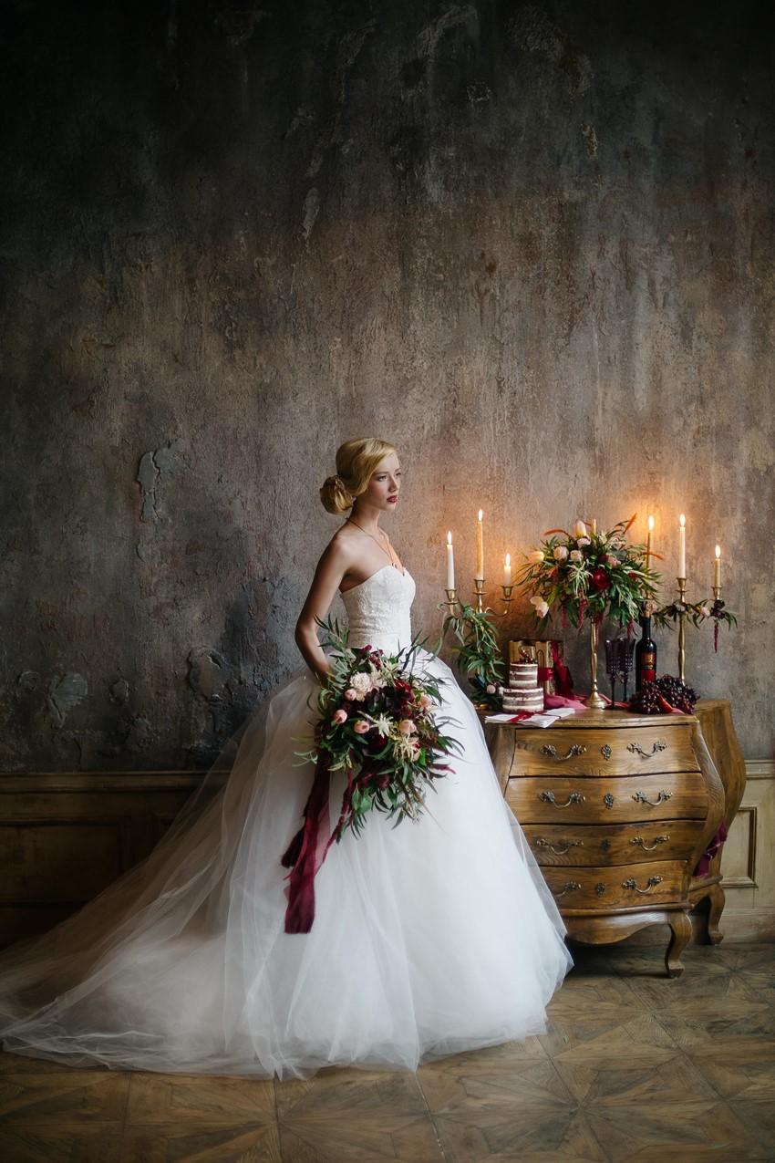 Elegant Vintage Bridal Look