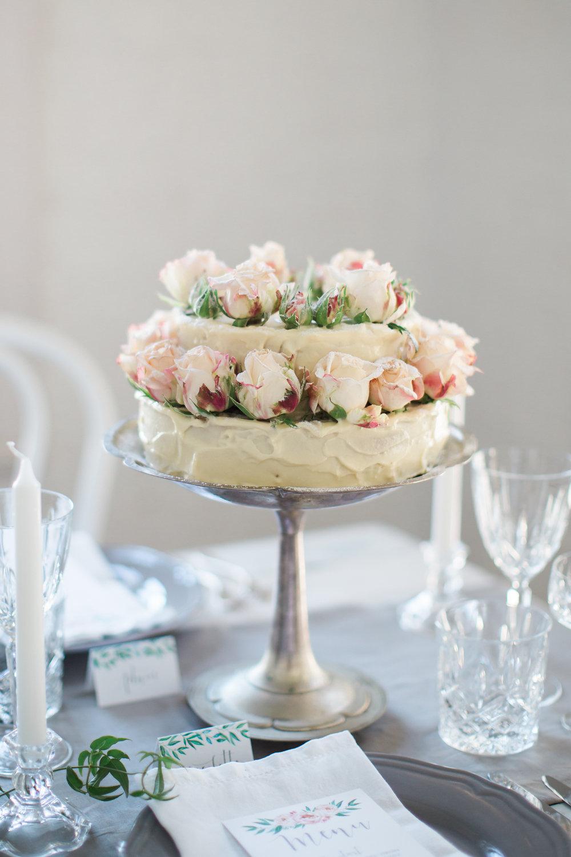 Romantic two tier Wedding cake