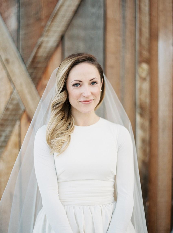 Romantic Winter Bride // Photography ~ Rebecca Hollis Photography