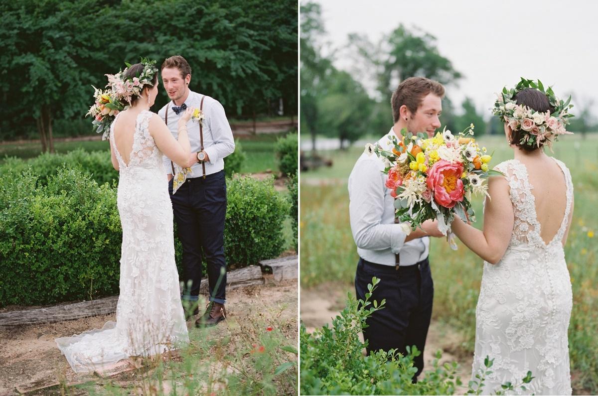 Garden Wedding First Look