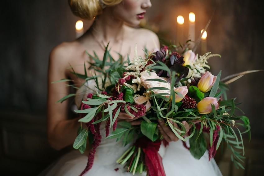 Stunning Marsala Bridal Bouquet
