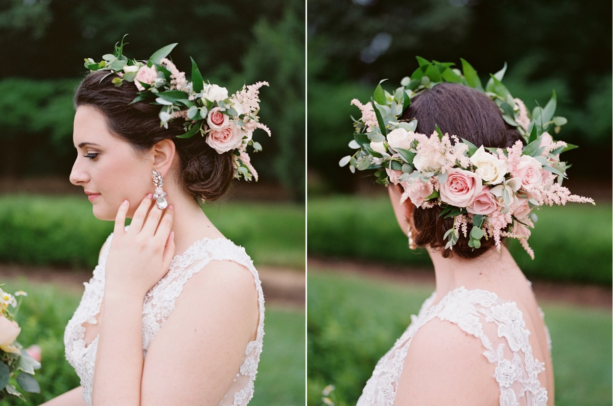 Boho Vintage Bridal Flower Crown
