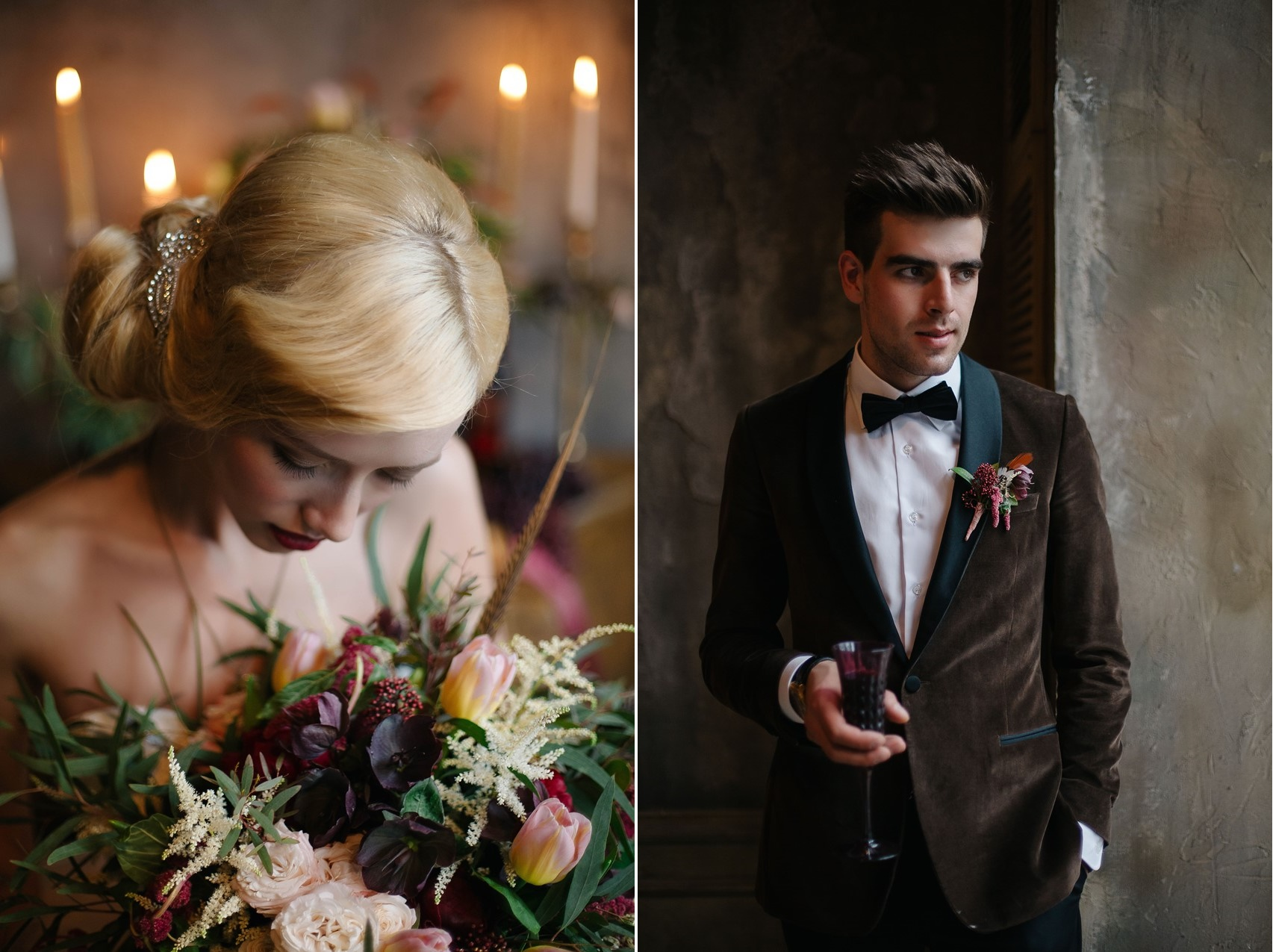 Elegant Vintage Bride & Groom