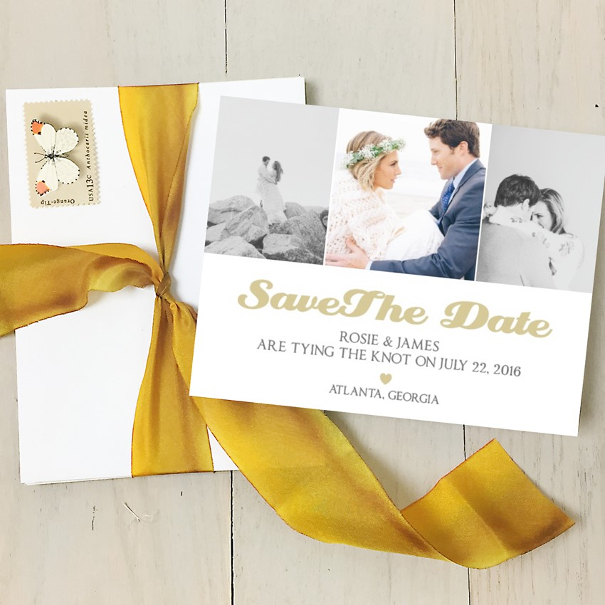 Stylish Photo Save the Date from Basic Invite