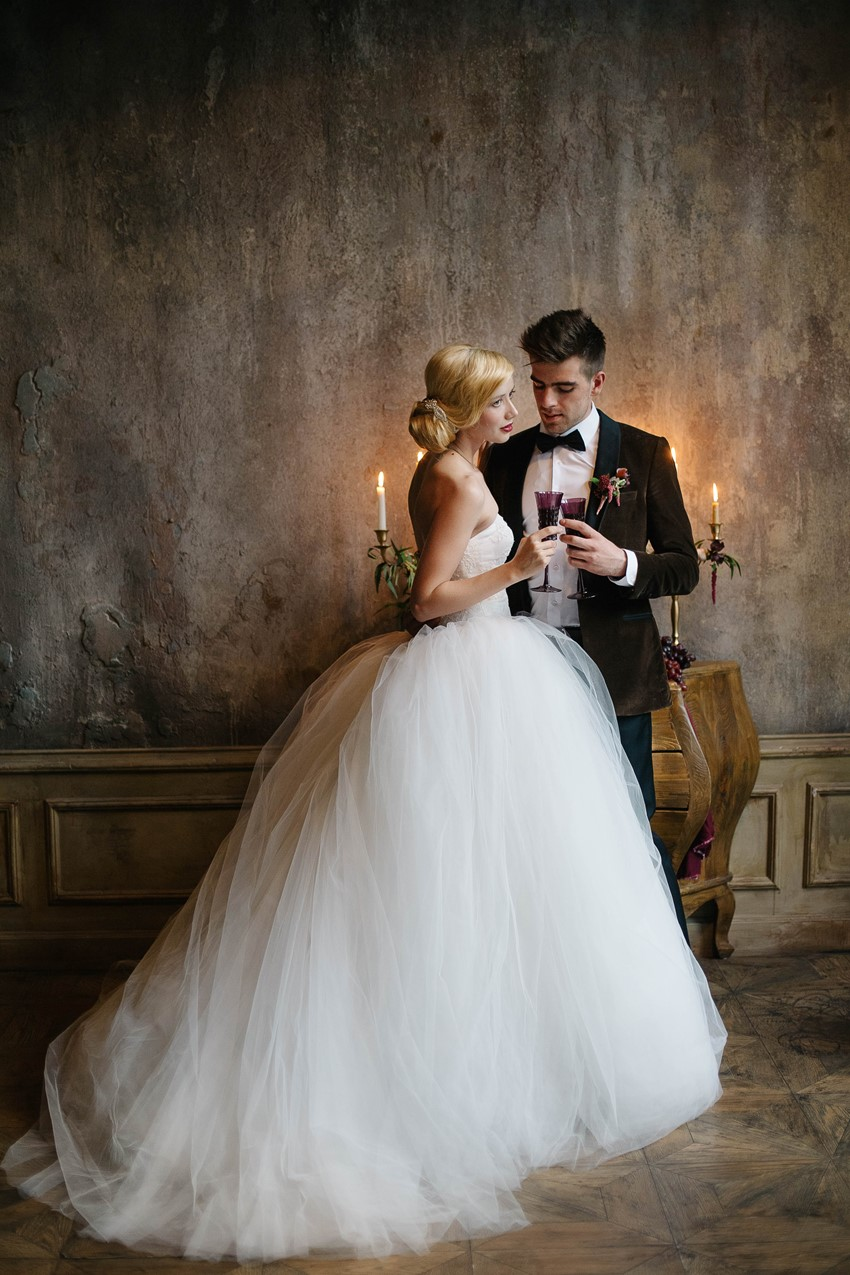 Timelessly Elegant New Years Bride & Groom