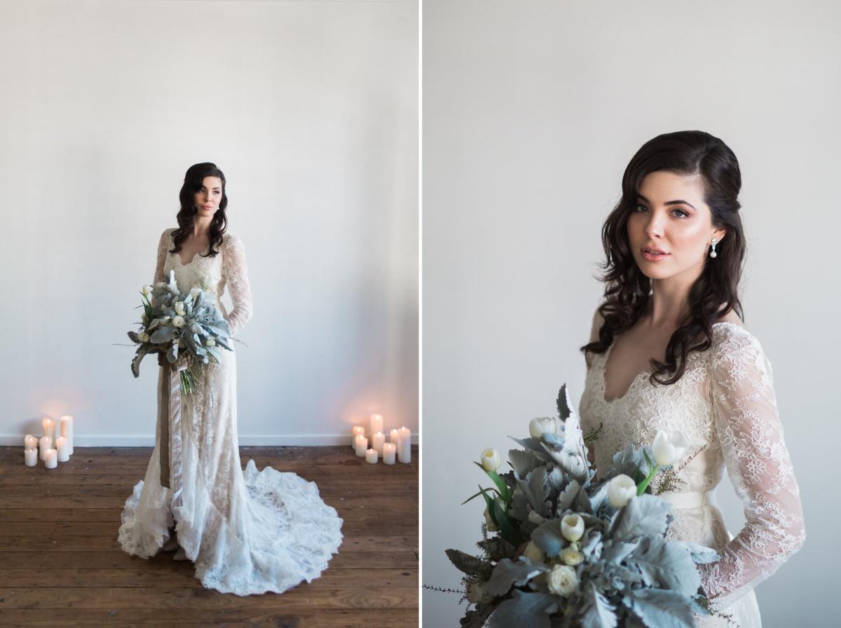 Romantic Long Sleeve Lace Wedding Dress