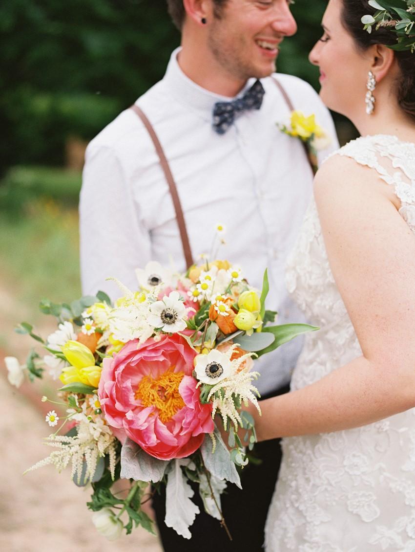 Romantic Boho Vintage Bridal Bouquet