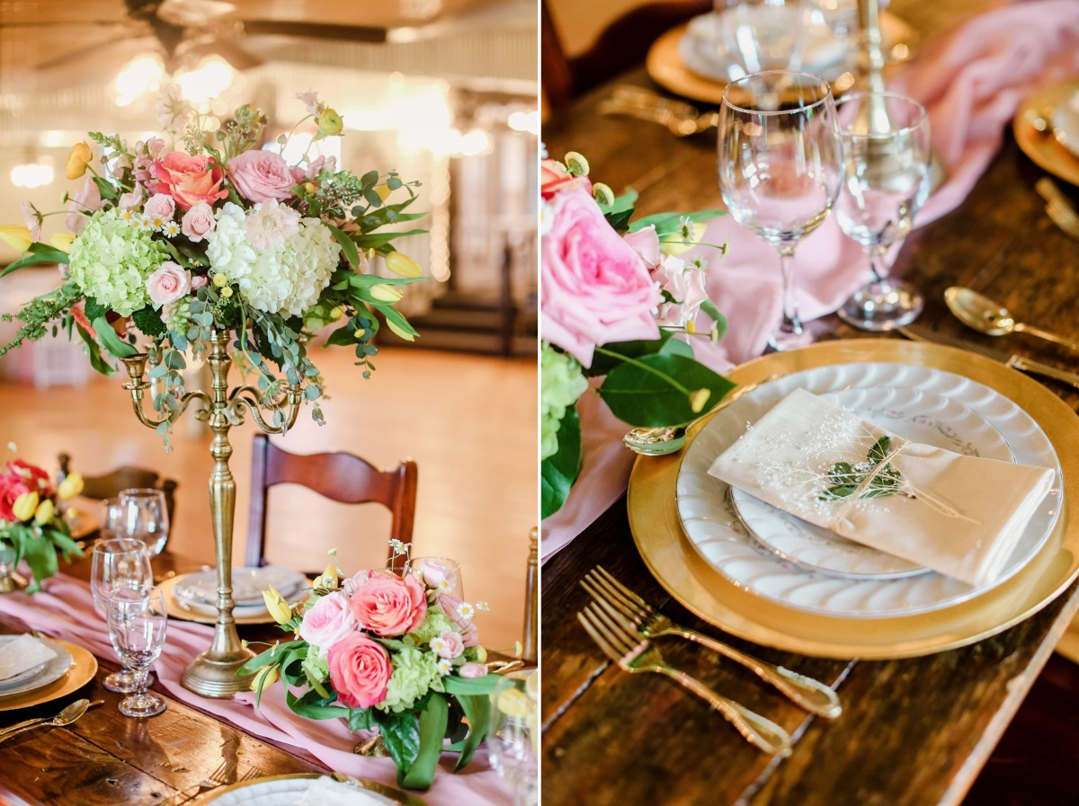 Romantic Floral Wedding Reception Decor