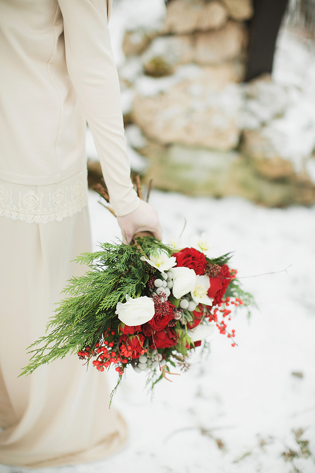 Vintage Christmas Bridal Bouquet