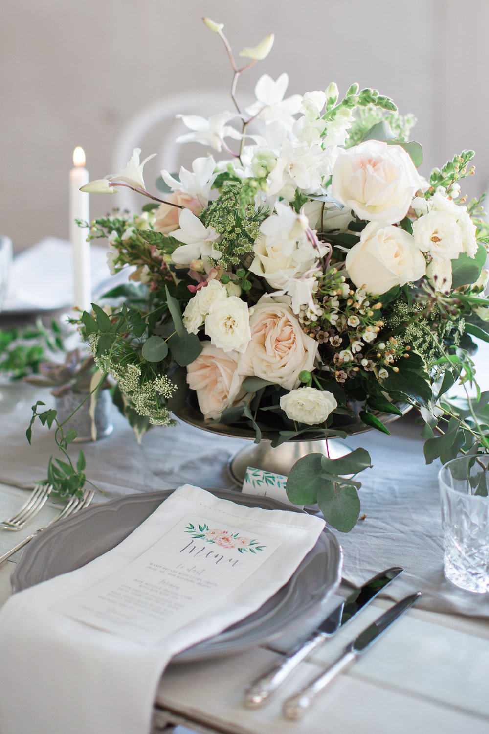 Timeless Floral Wedding Centerpiece