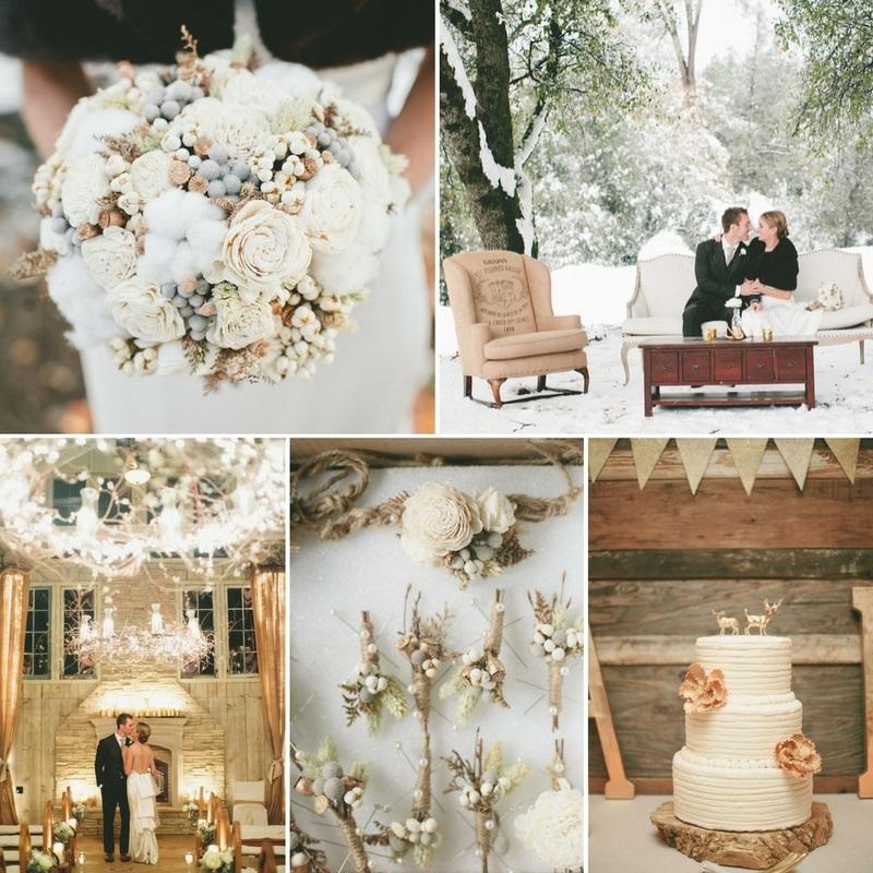 Snow Wedding Ideas: A Romantic Winter Wedding In The Snow : Chic Vintage Brides