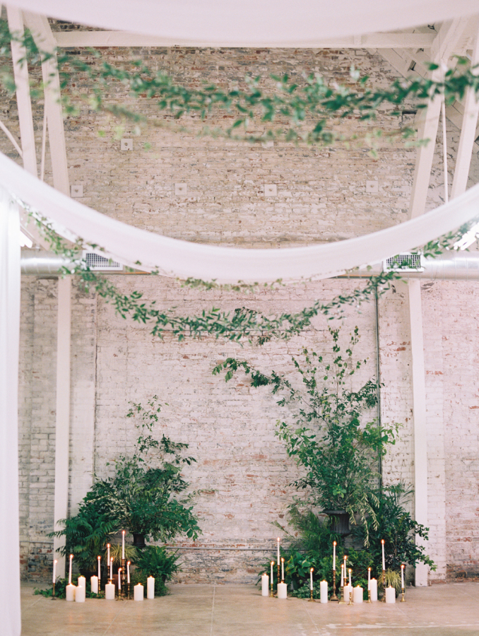 Greenery Adorned Wedding Aisle