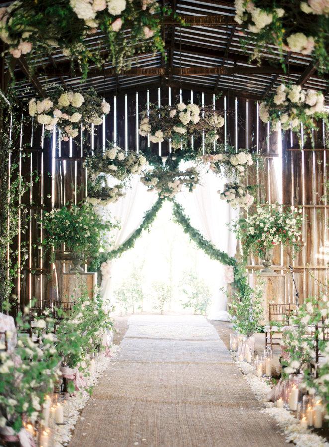 Greenery Adorned Wedding Ceremony