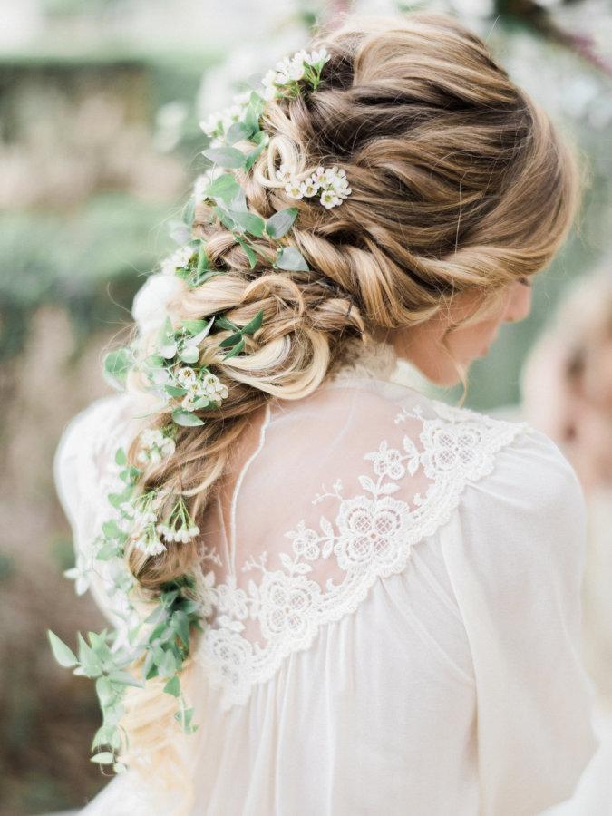 Greenery Adorned Bridal Braid