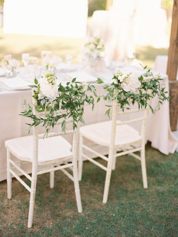 Greenery Wedding Chair Decor