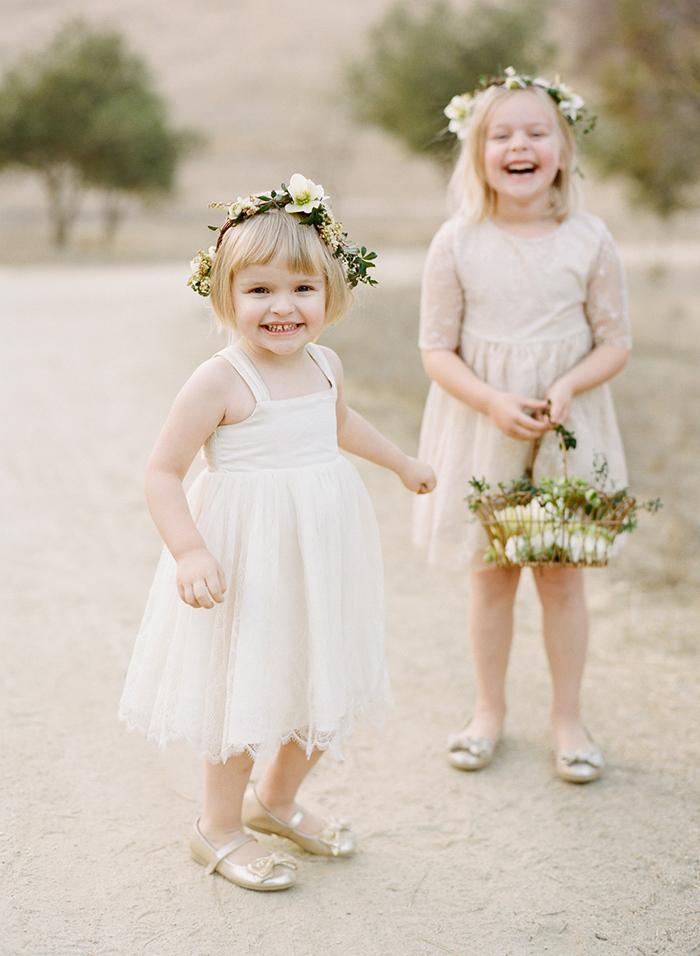 Greenery Flower Girls