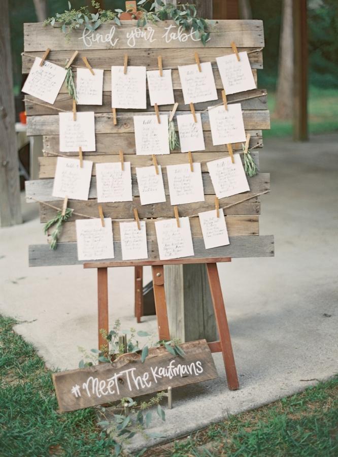 Greenery Wedding Seating Chart