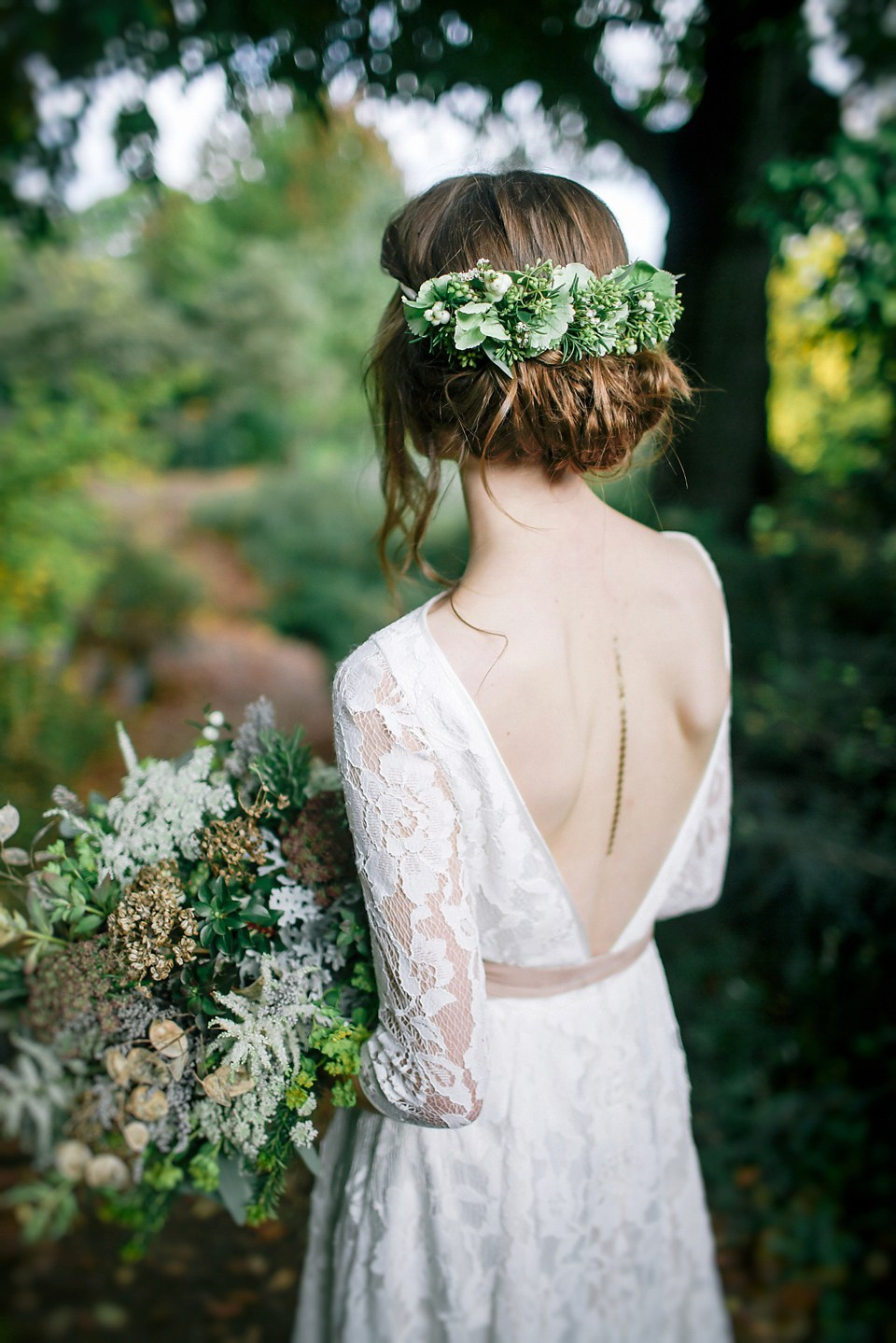 Greenery Bridal Updo