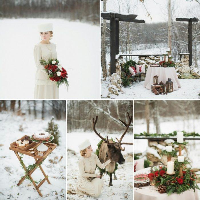 Russian Christmas Wedding Inspiration