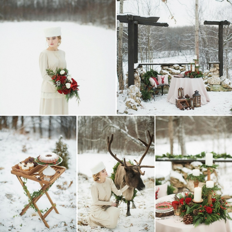 Russian Christmas Wedding Inspiration