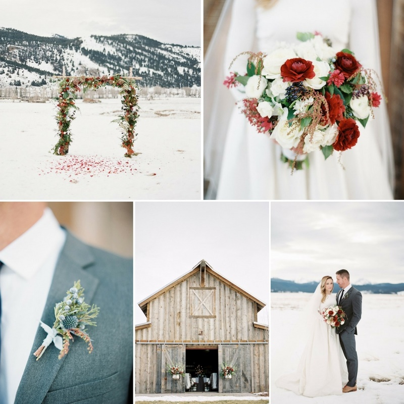 Christmas Wedding Colors.Winter Love Story Snowy Holiday Wedding Inspiration