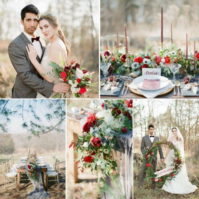 Rustic & Wildly Romantic Christmas Wedding Inspiration