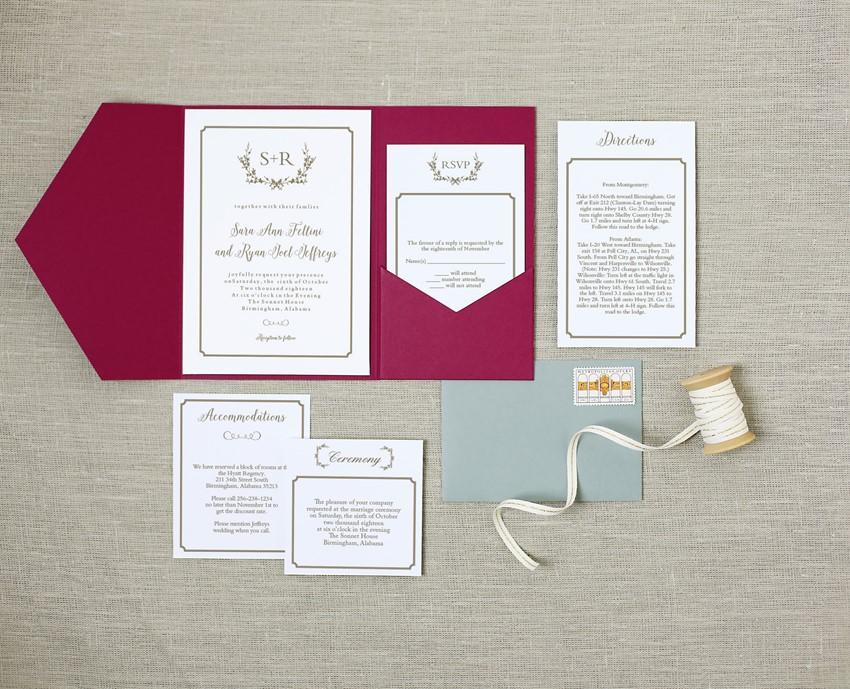 Elegant Wedding Invitations from Basic Invites