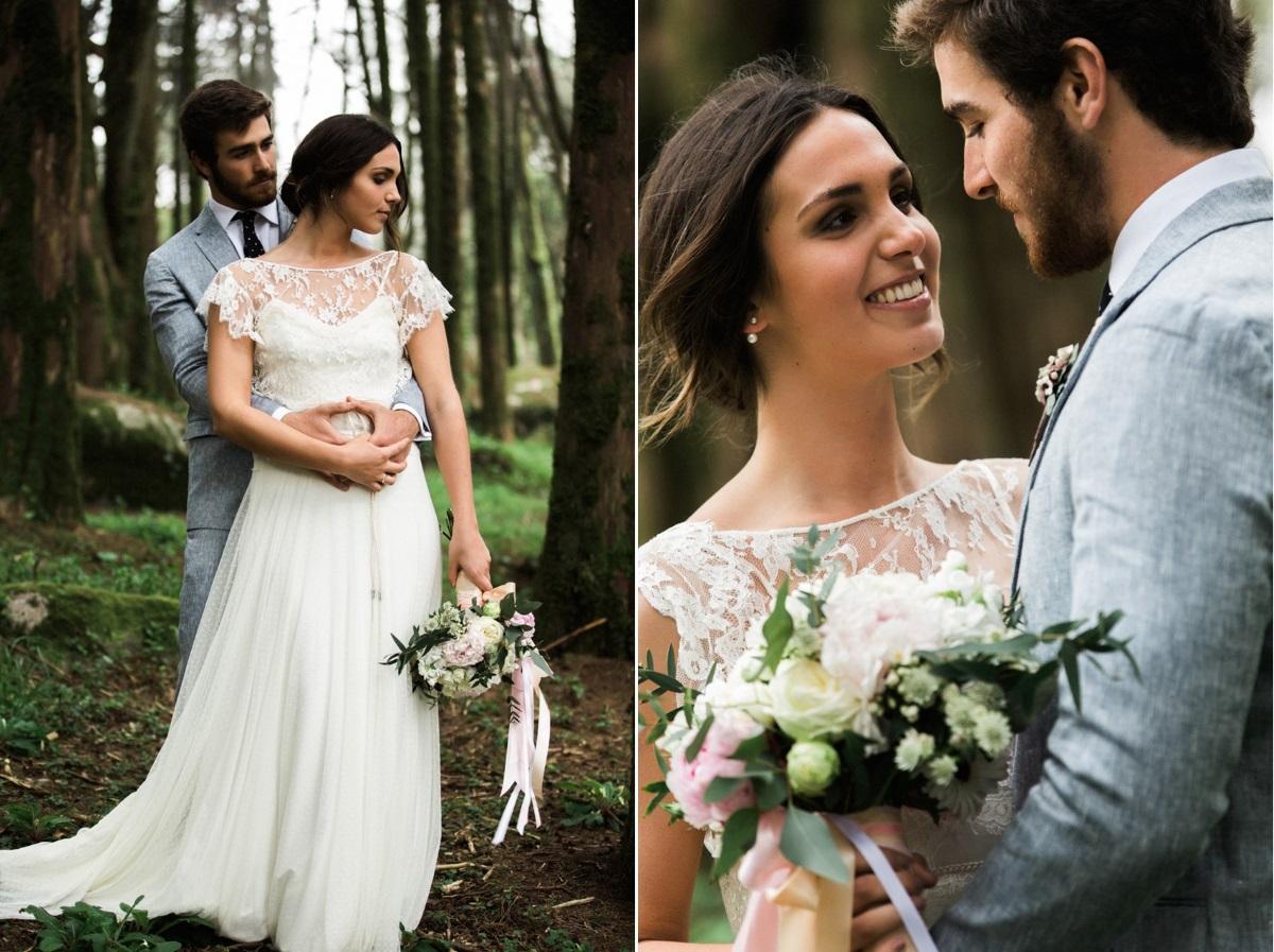 Woodland Wedding Bride & Groom