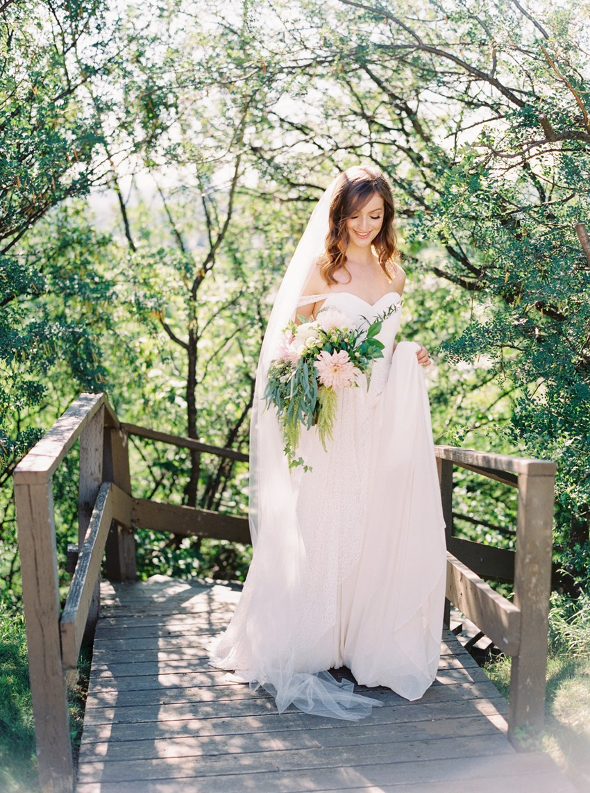 Dreamy Spring Garden Wedding Dress
