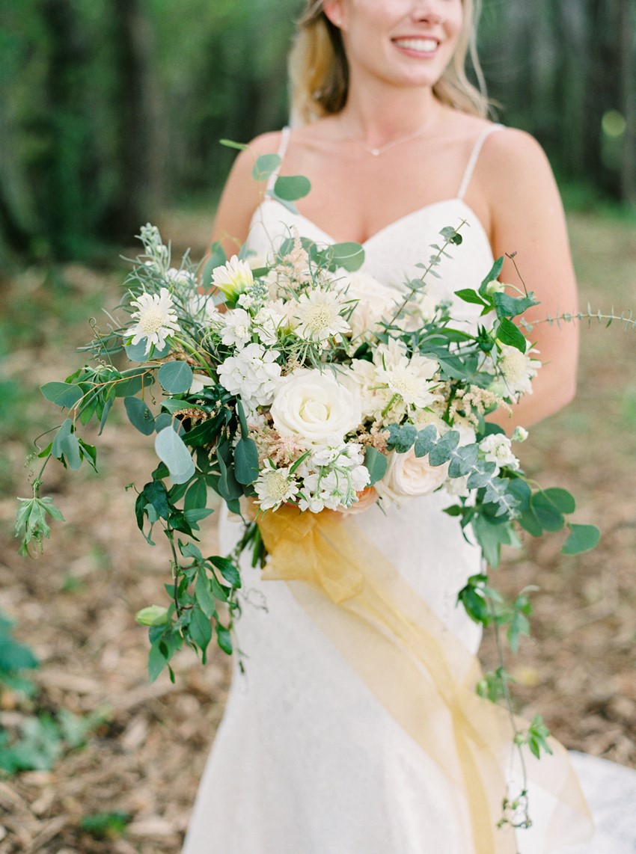 Romantic Elegant White & Greenery Bridal Bouquet