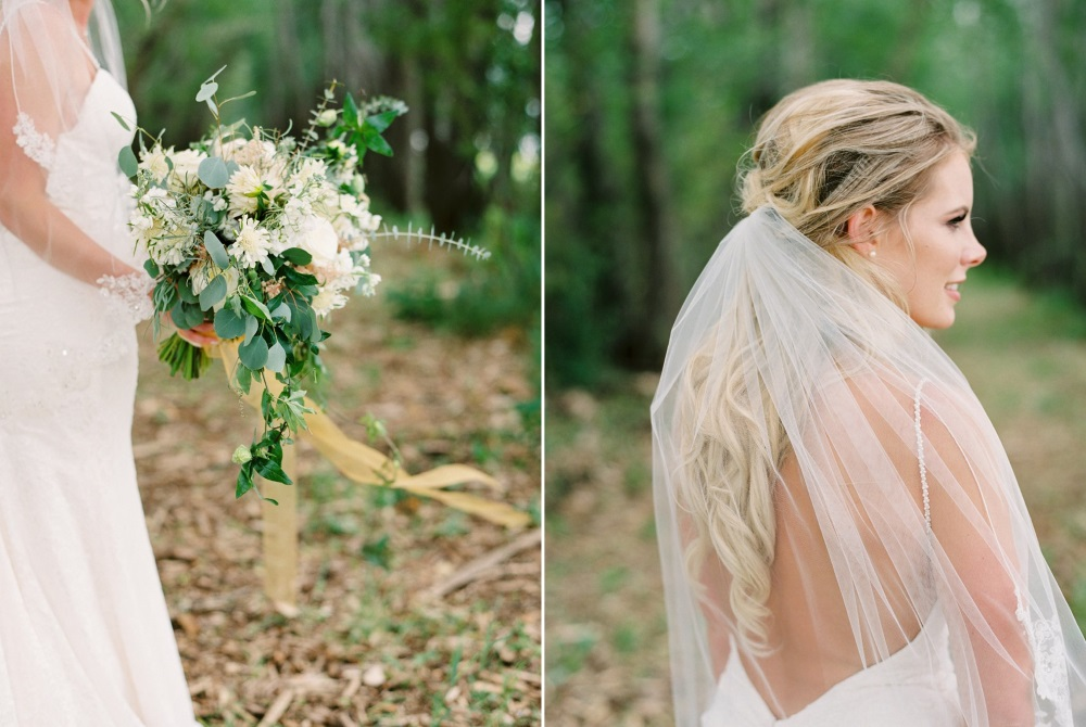 Romantic Elegant White & Greenery Bridal Bouquet