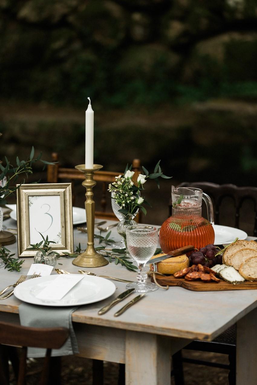 Woodland Elopement Wedding Food