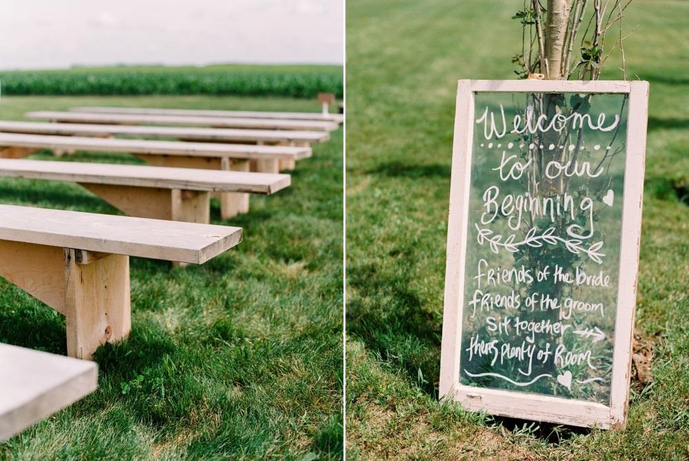 Simple Rustic Outdoor Wedding Ceremony Decor
