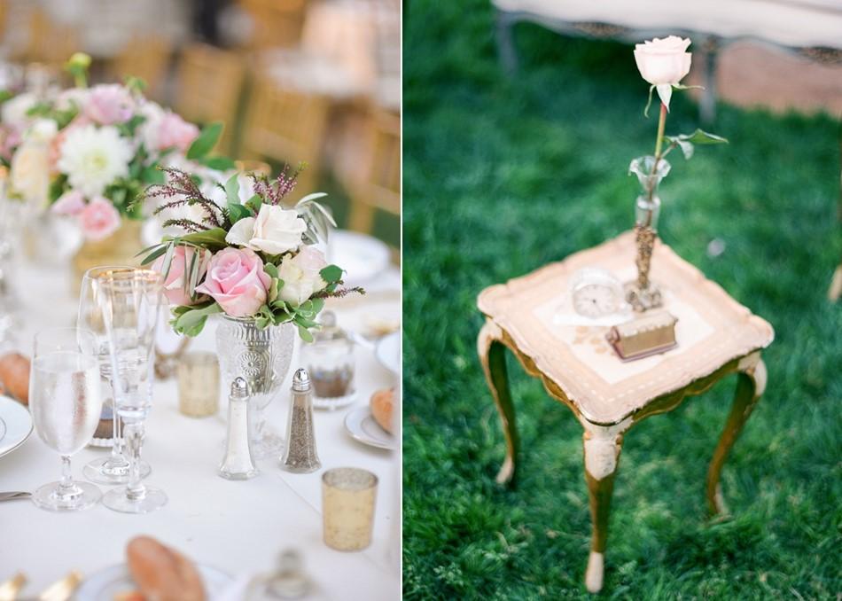 Romantic Garden Wedding Reception Decor // Photography ~ Trynh Photo