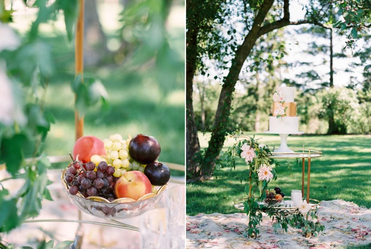 Stunning Spring Garden Wedding Cake Display