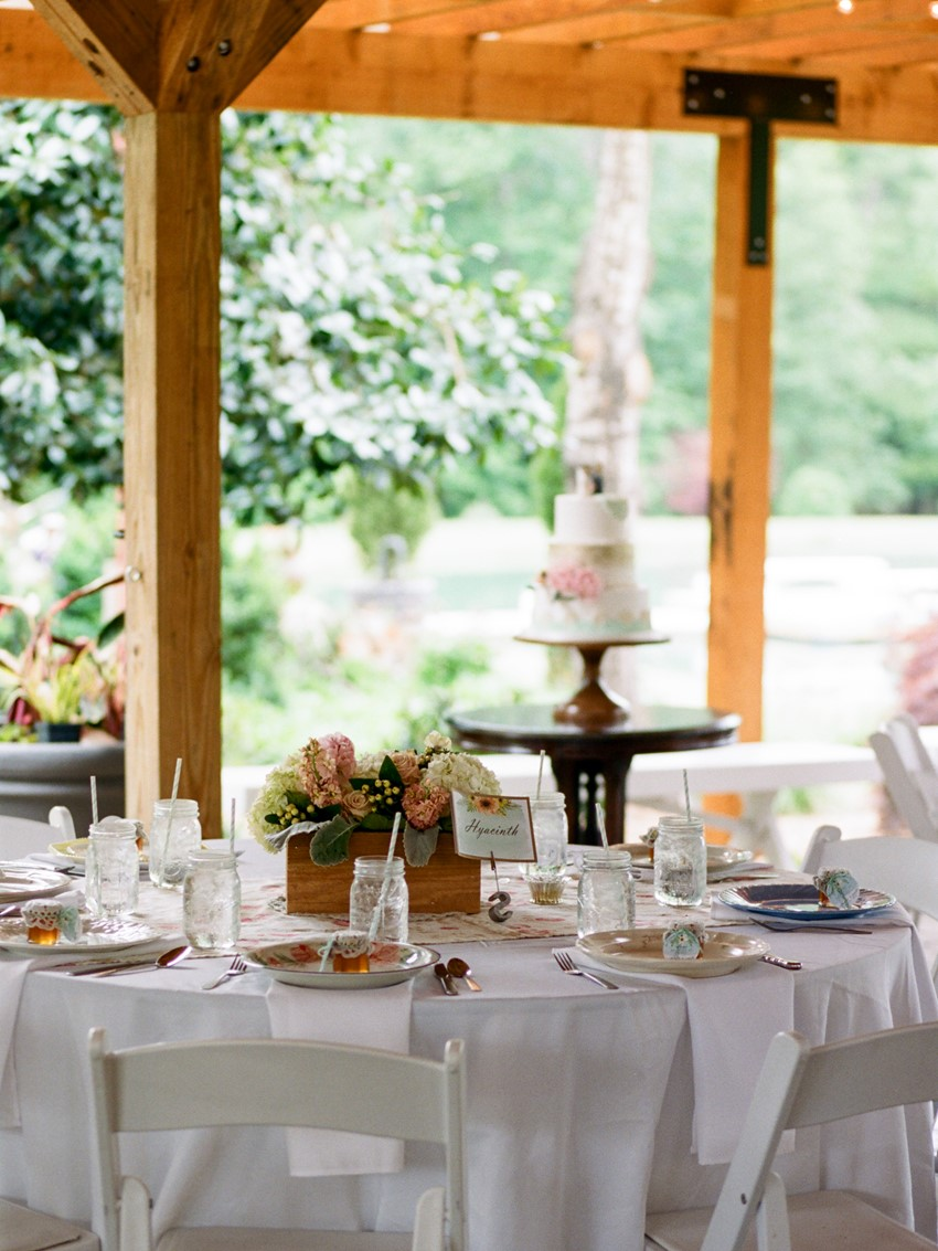 Vintage Barn Wedding Reception Decor
