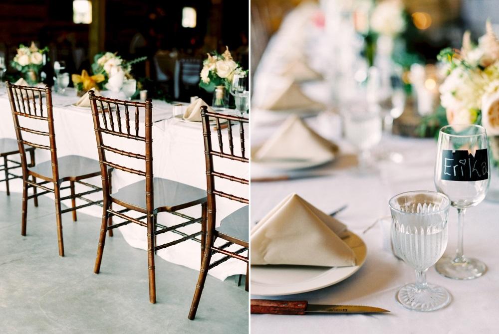 Romantic Rustic Barn Wedding Tablescape