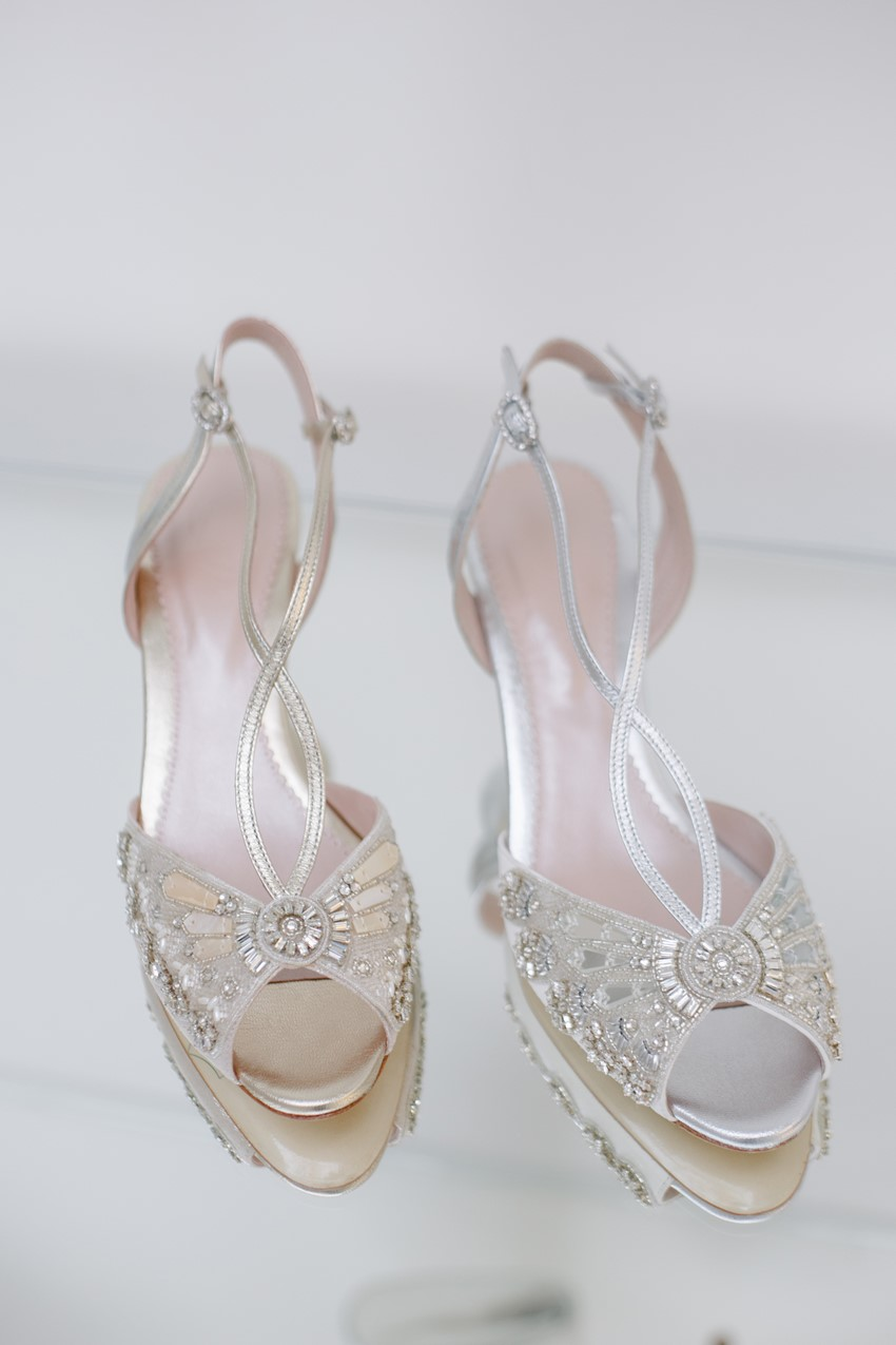 Art Deco Bridal Shoes from Emmy London