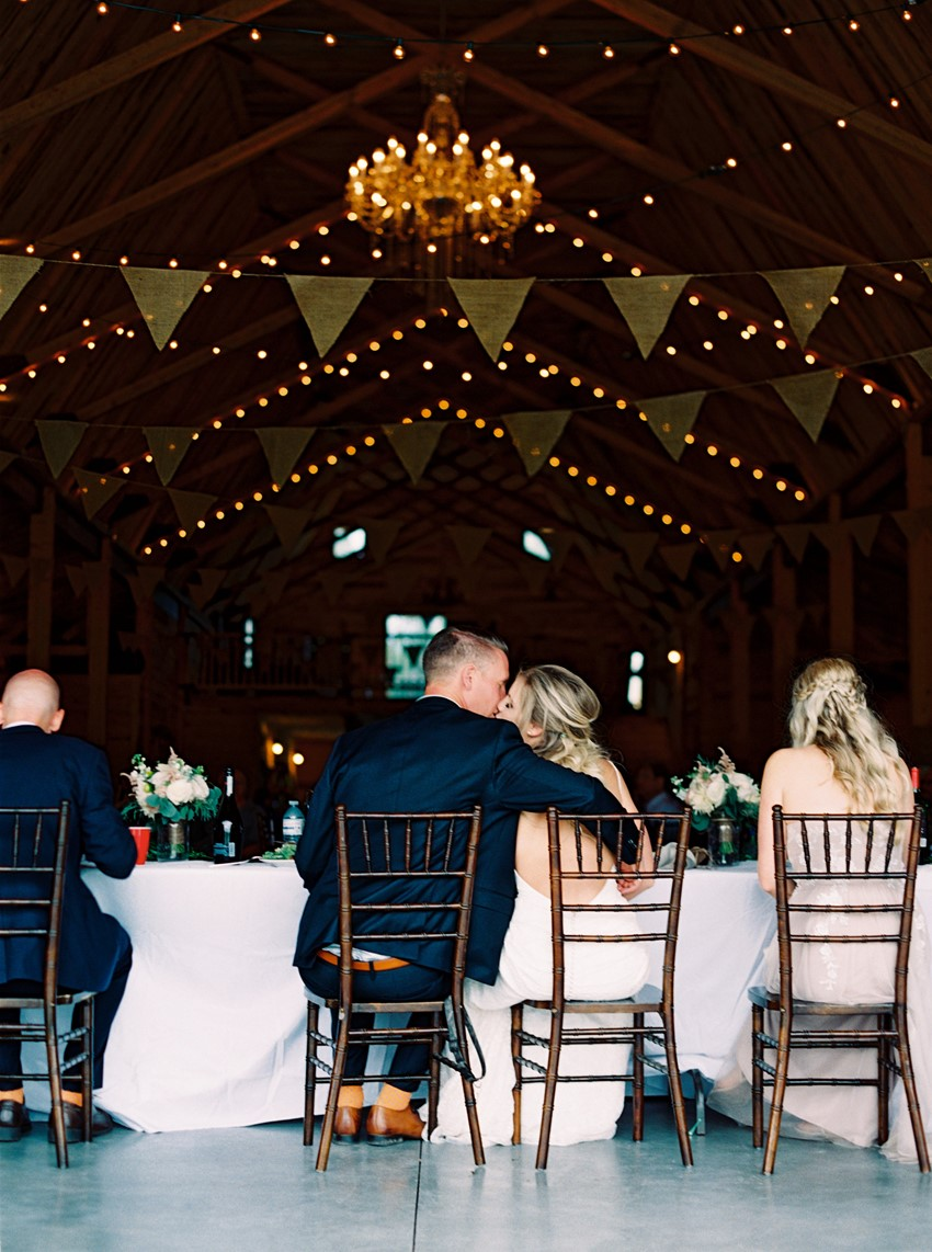 Romantic Rustic Barn Wedding Reception