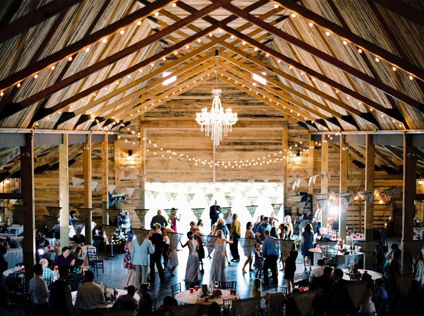 Romantic Rustic Barn Wedding Reception