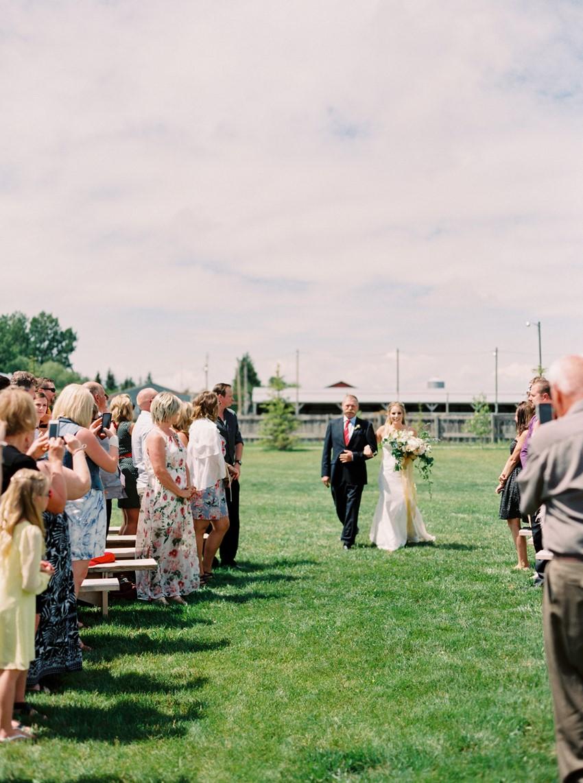 Simple Rustic Outdoor Wedding Ceremony