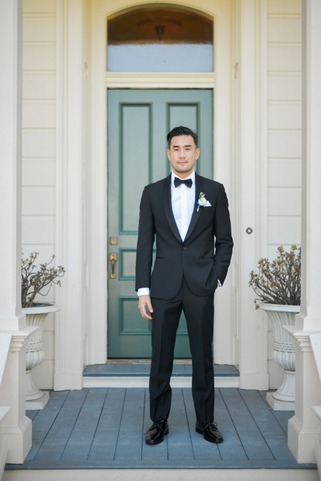 Groom in a timeless Tuxedo // Photography ~ Trynh Photo