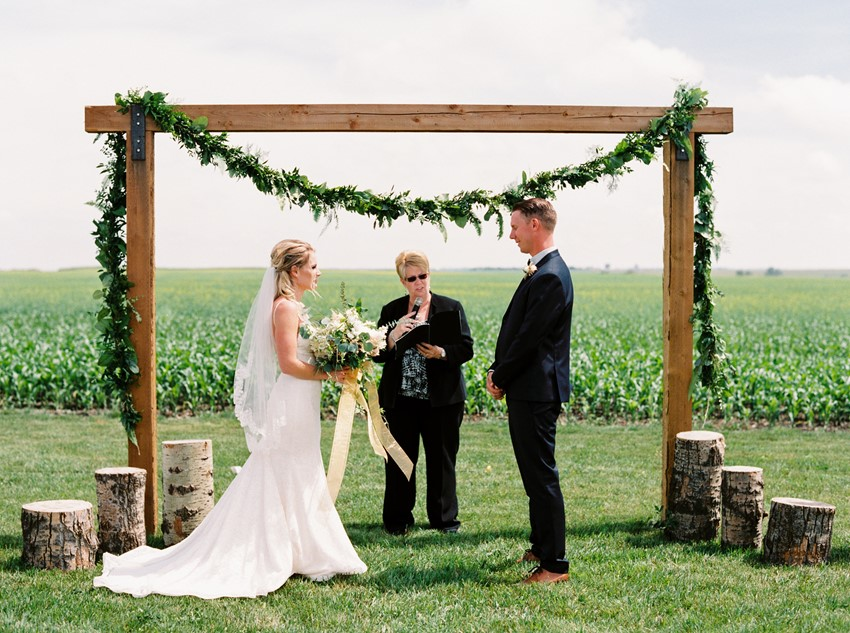 Simple Romantic Outdoor Wedding Ceremony