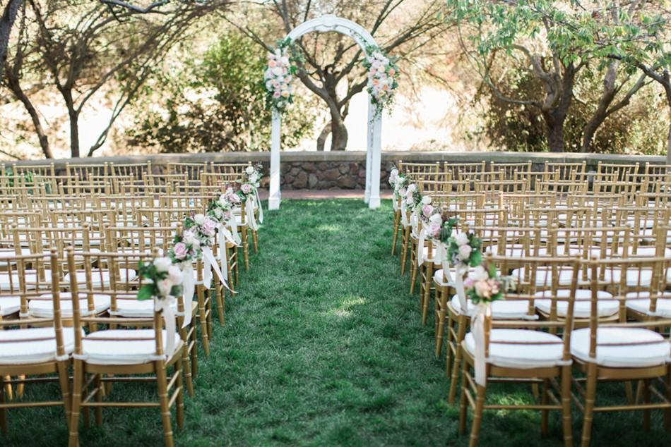 Garden Wedding Ceremony Arch // Photography ~ Trynh Photo