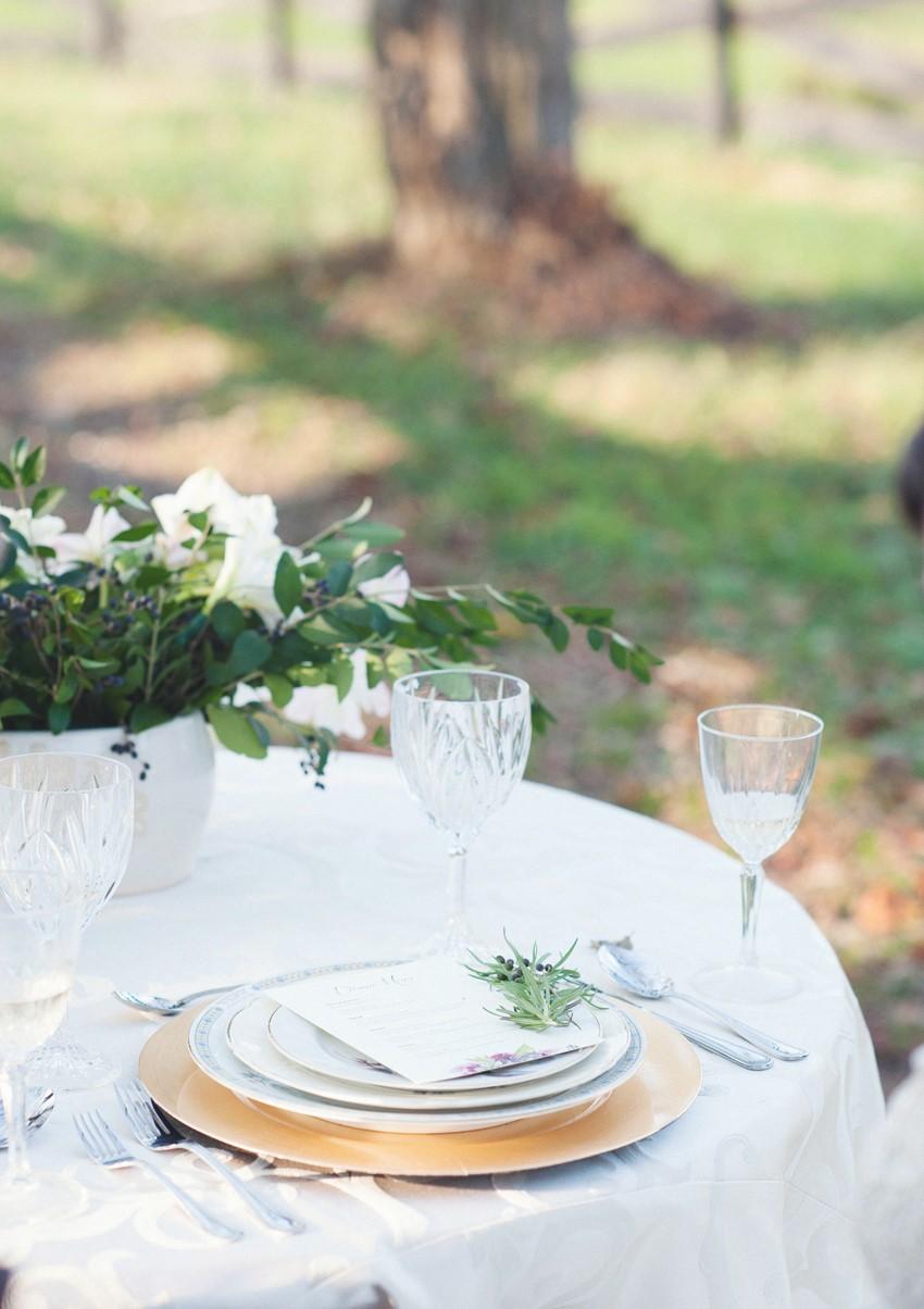 Vintage Wedding Place Setting