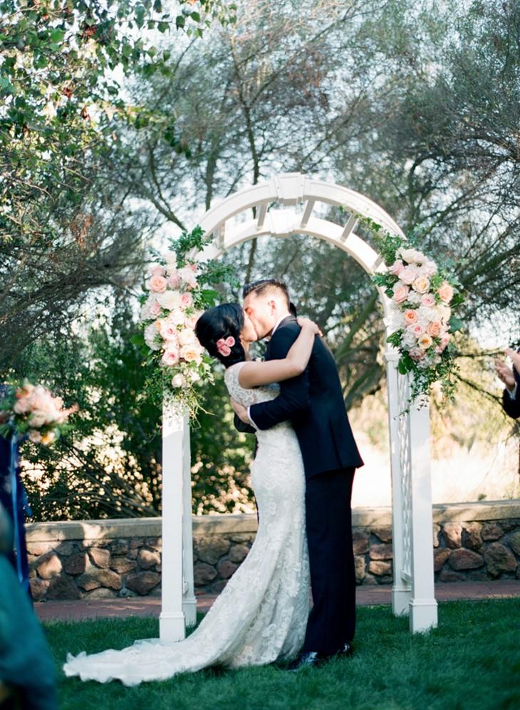 Romantic Garden Wedding Ceremony // Photography ~ Trynh Photo