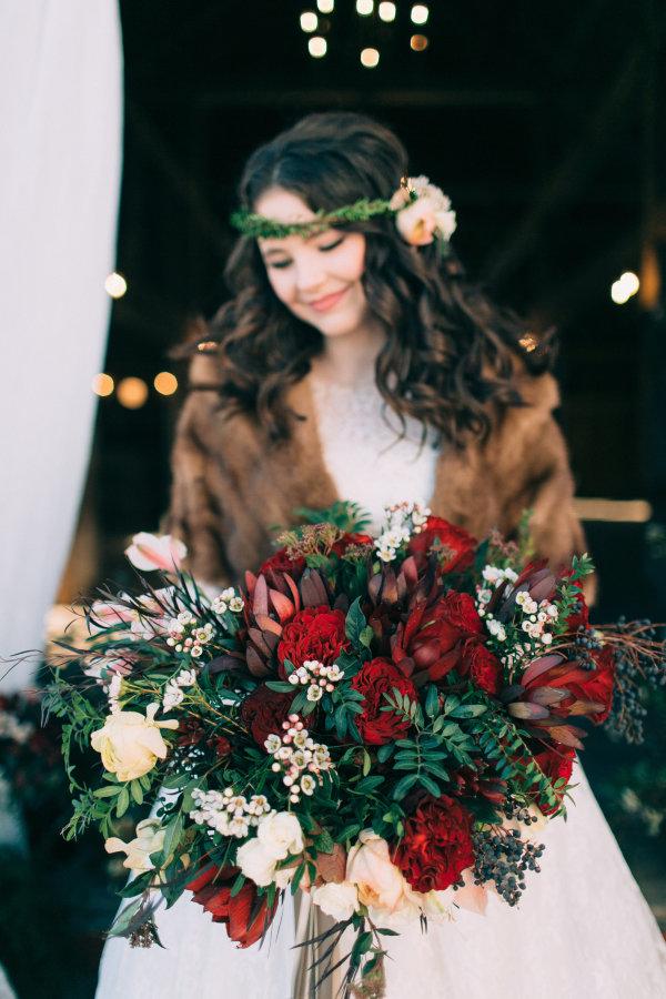 Garnet Bridal Bouquet
