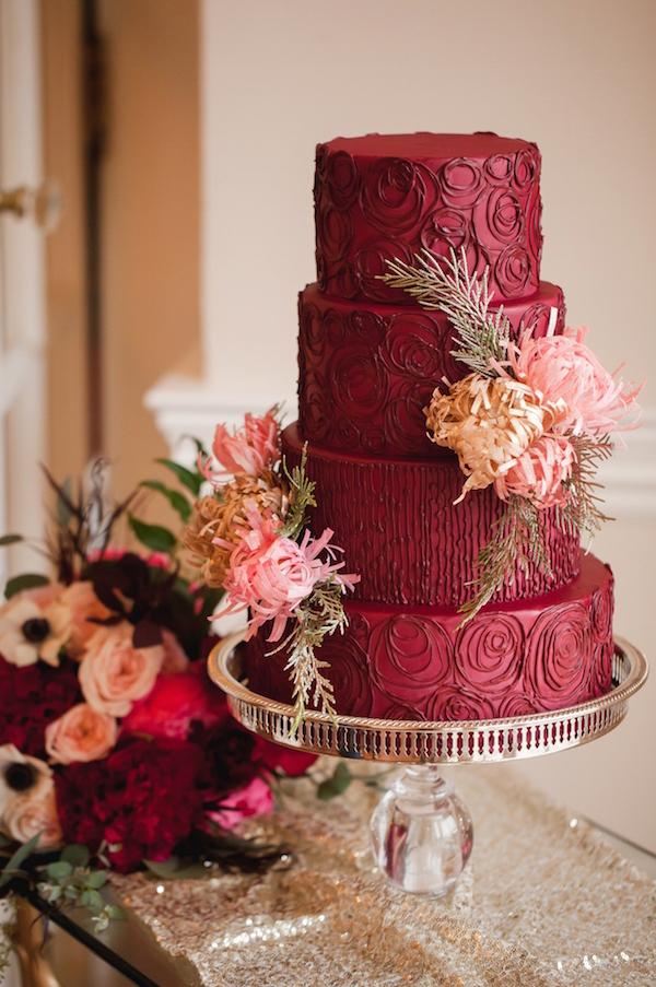 Garnet Wedding Cake