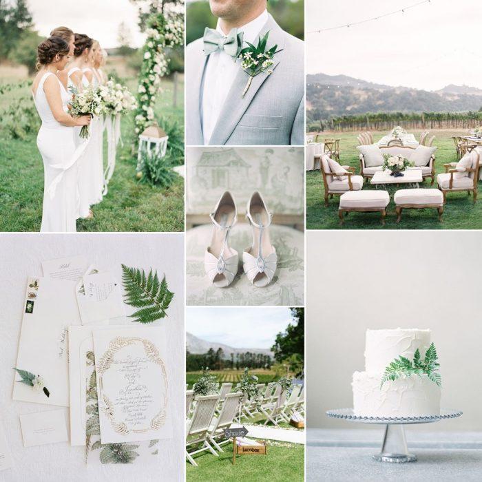 Misty Romance - Elegant Wedding Inspiration in Soft Shades of Grey & Green